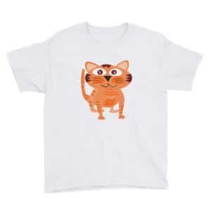 Cute Orange Tabby Cat Teen Unisex T-Shirt