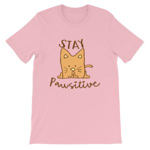 Stay Pawsitive Cat Pun Tee