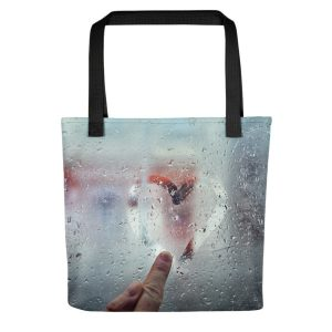 Heart On Glass Tote Bag