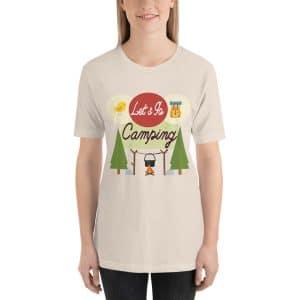 Let's Go Camping Short-Sleeve Unisex T-Shirt