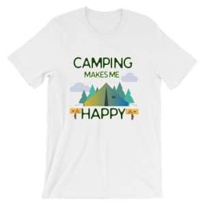 Camping Makes Me Happy Short-Sleeve Unisex T-Shirt