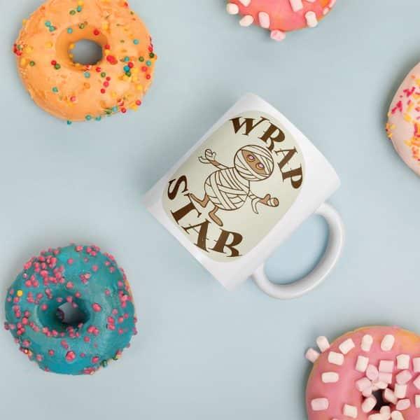 Funny Coffee Mug - Wrap Star - Mummy Pun Cups