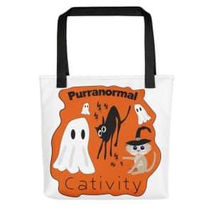 Cute Halloween Cat Pun Tote Bag