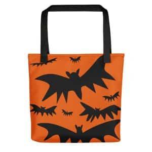 Orange And Black Halloween Tote Bag