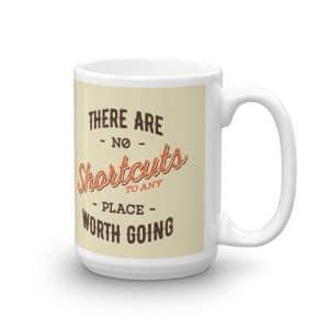Illustrated Positive Saying Coffee Mug