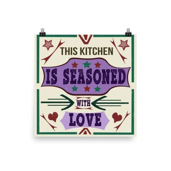 Grunge Style Traditional Kitchen Wisdom Poster1