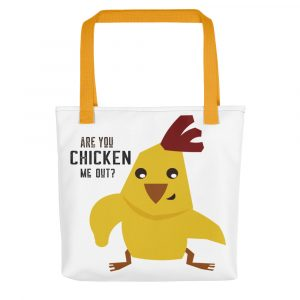 Funny Chicken Pun Tote Bag