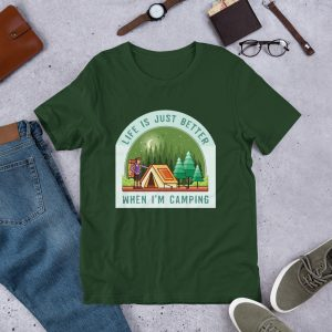 Short-Sleeve Unisex T-Shirt For Campers