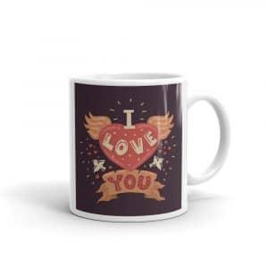 I Love You Illustrated Coffee Mug