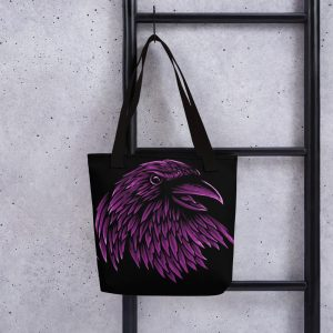 Purple Raven Tote Bag