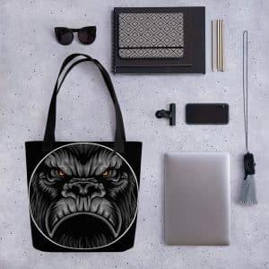 Angry Gorilla Tote Bag